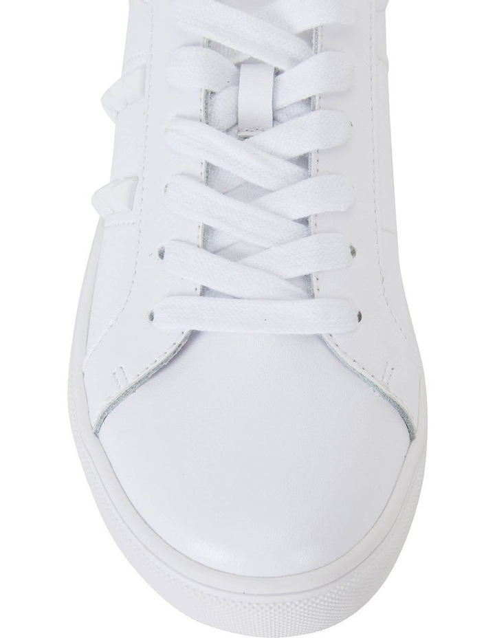 Savage White Matte Sneaker image 6