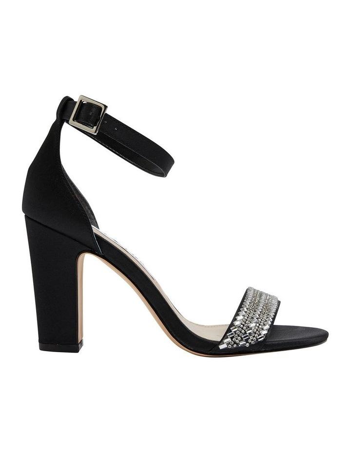 Suzette Black Luster Satin Sandal image 1