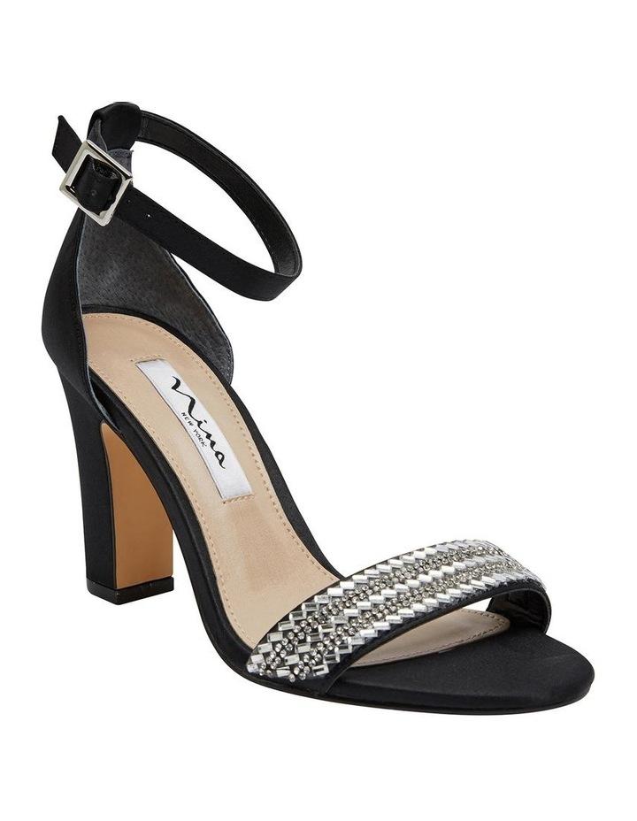 Suzette Black Luster Satin Sandal image 2
