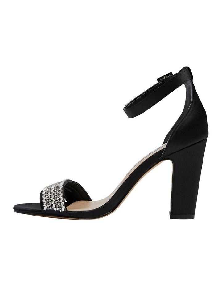 Suzette Black Luster Satin Sandal image 3