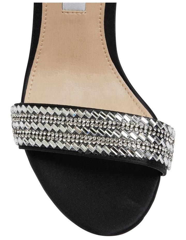 Suzette Black Luster Satin Sandal image 6