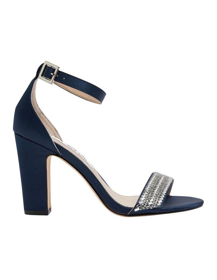 Suzette New Navy  Luster Satin Sandal image 1