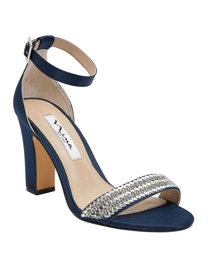 Suzette New Navy  Luster Satin Sandal image 2