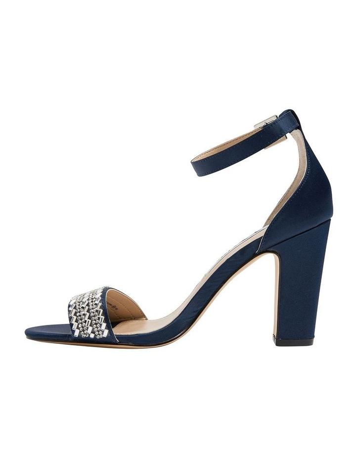 Suzette New Navy  Luster Satin Sandal image 4