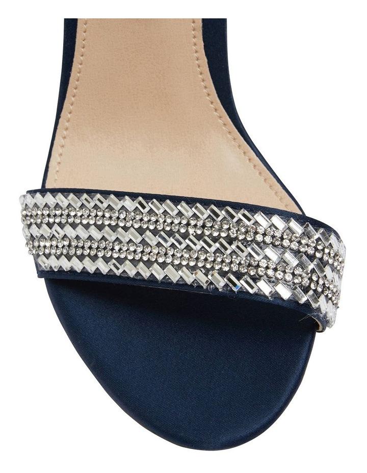 Suzette New Navy  Luster Satin Sandal image 6