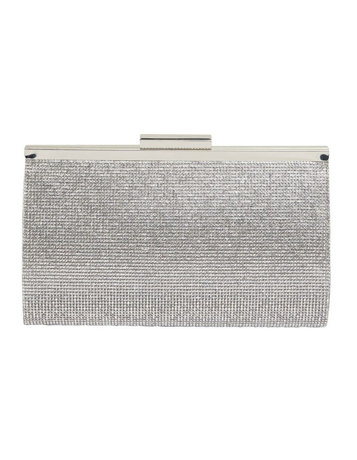 Winslet Silver Beaded Clutch image 1