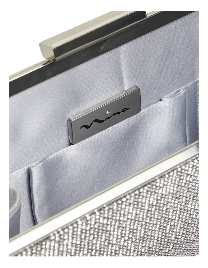 Winslet Silver Beaded Clutch image 3