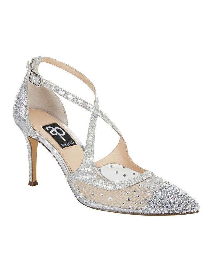 Candid Silver Glitter Weave Pump image 2