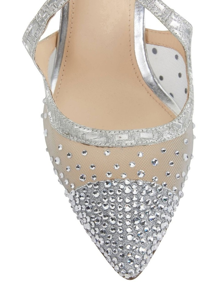 Candid Silver Glitter Weave Pump image 6