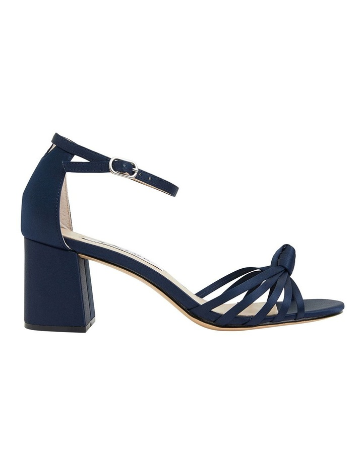 Nidiah New Navy Satin Sandal image 1