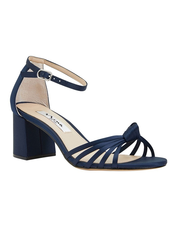 Nidiah New Navy Satin Sandal image 2