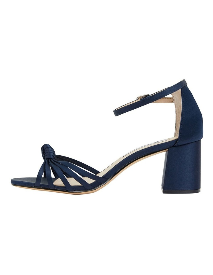 Nidiah New Navy Satin Sandal image 3