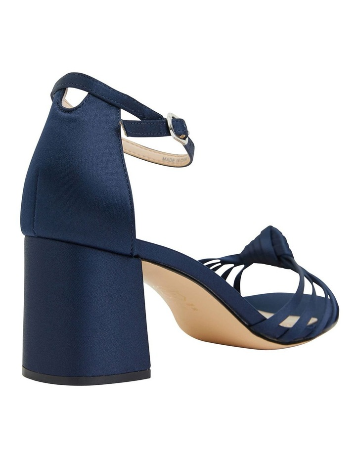 Nidiah New Navy Satin Sandal image 4