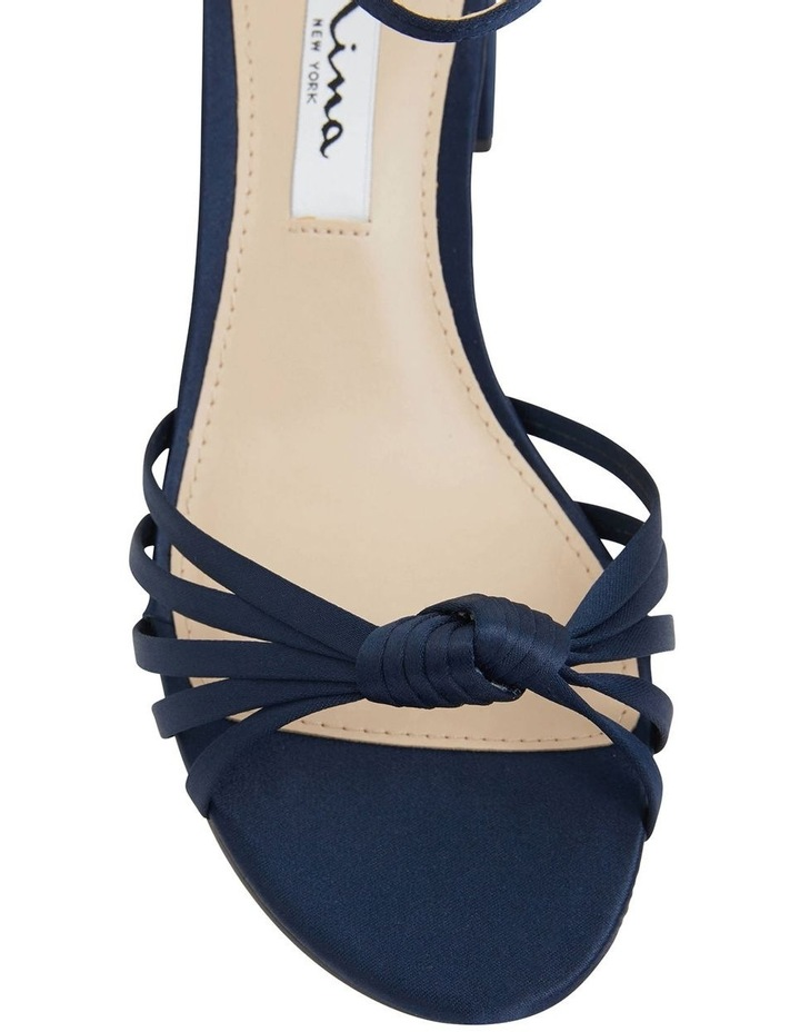 Nidiah New Navy Satin Sandal image 6