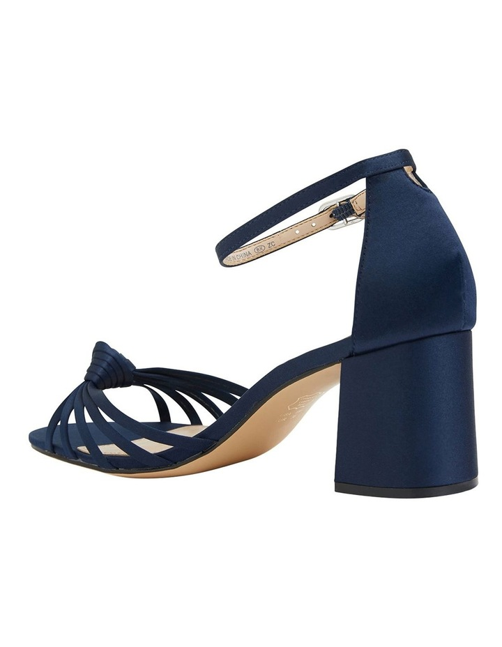 Nidiah New Navy Satin Sandal image 7