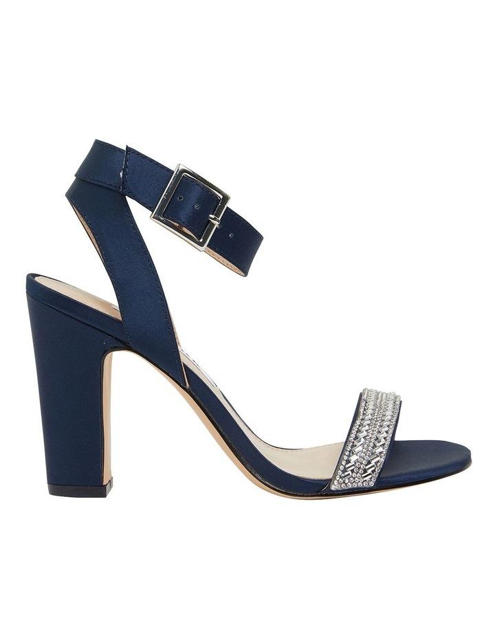 Sharon Navy Satin Sandals image 1