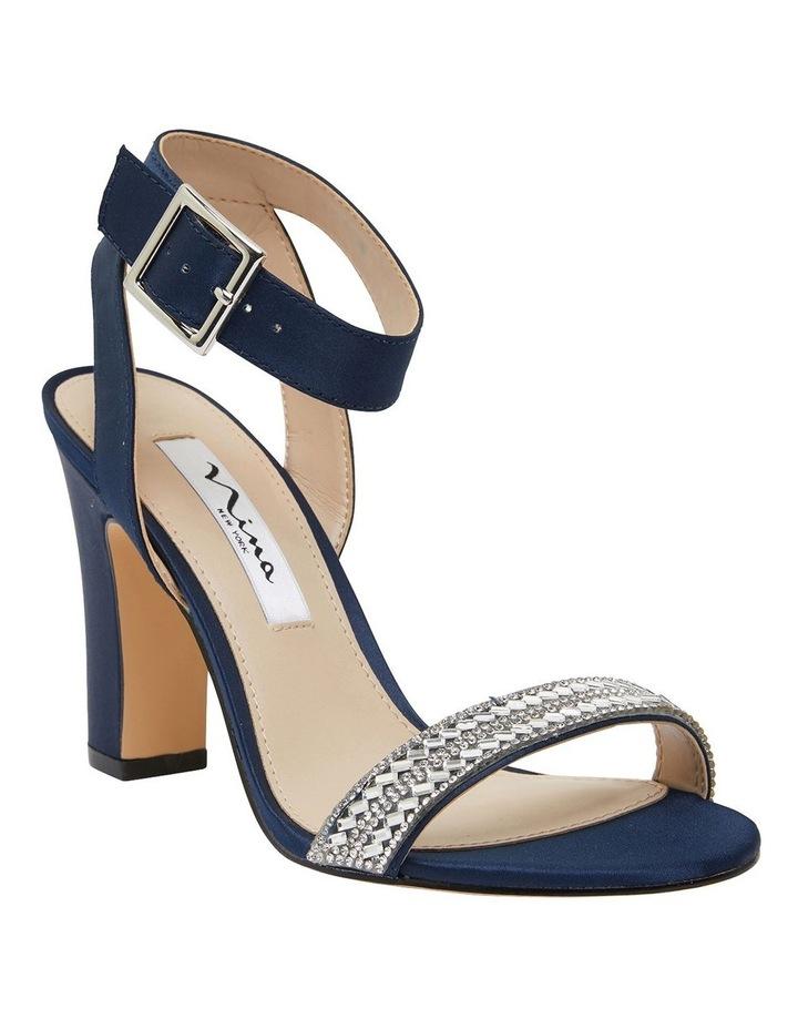 Sharon Navy Satin Sandals image 2