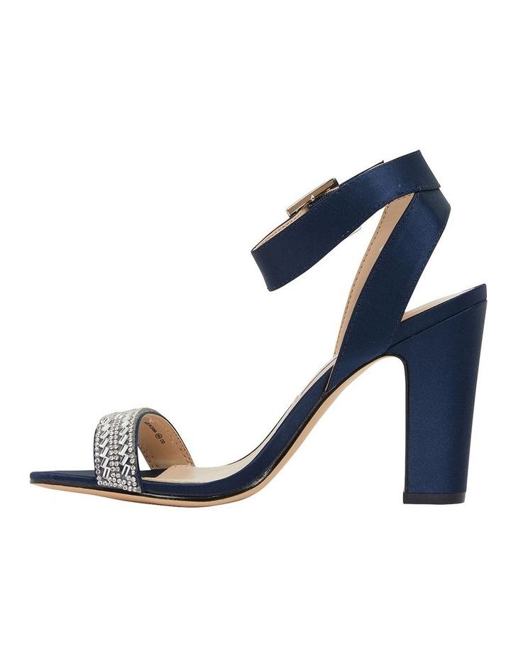 Sharon Navy Satin Sandals image 3
