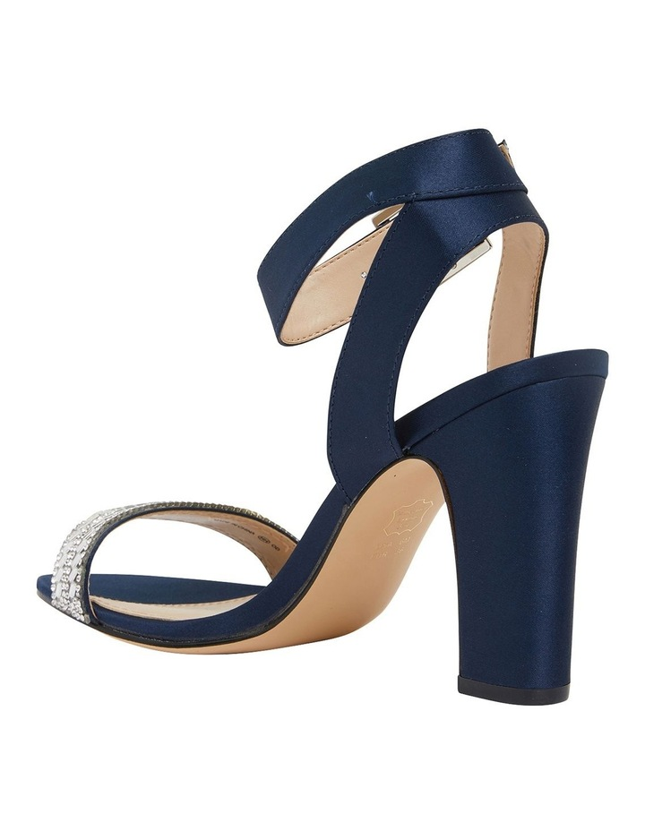 Sharon Navy Satin Sandals image 5