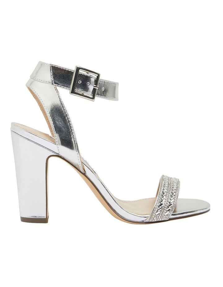 Sharon Silver Metallic Foil Sandals image 1