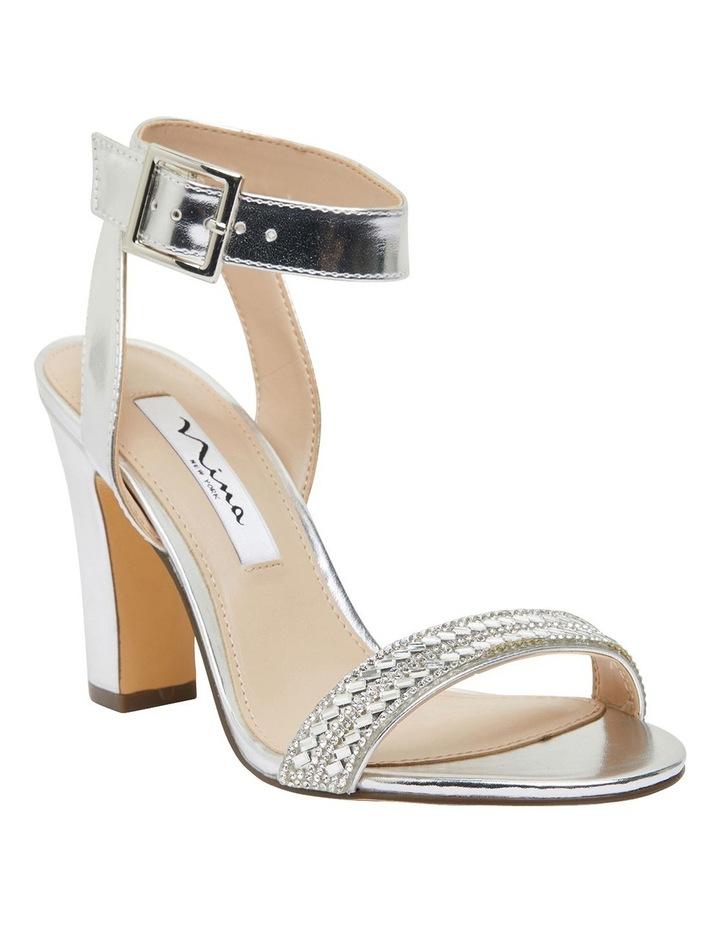 Sharon Silver Metallic Foil Sandals image 2