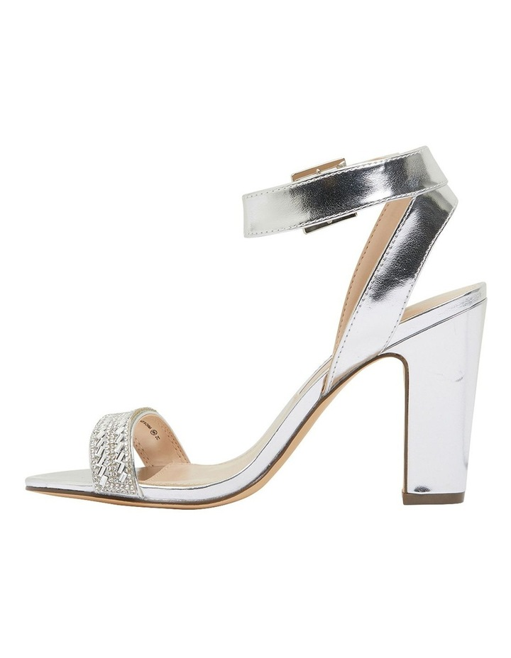 Sharon Silver Metallic Foil Sandals image 3
