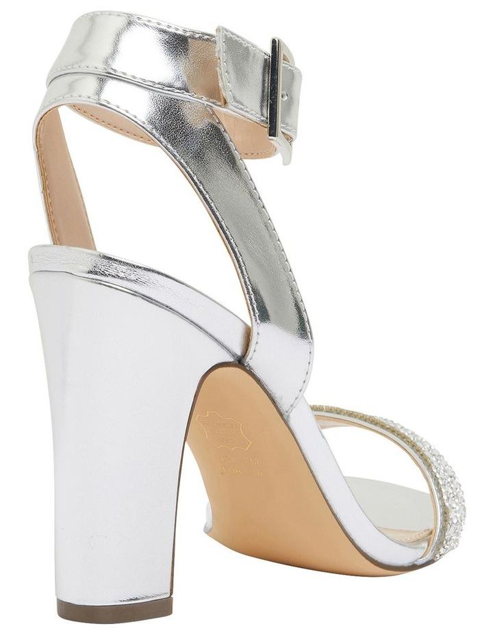 Sharon Silver Metallic Foil Sandals image 4