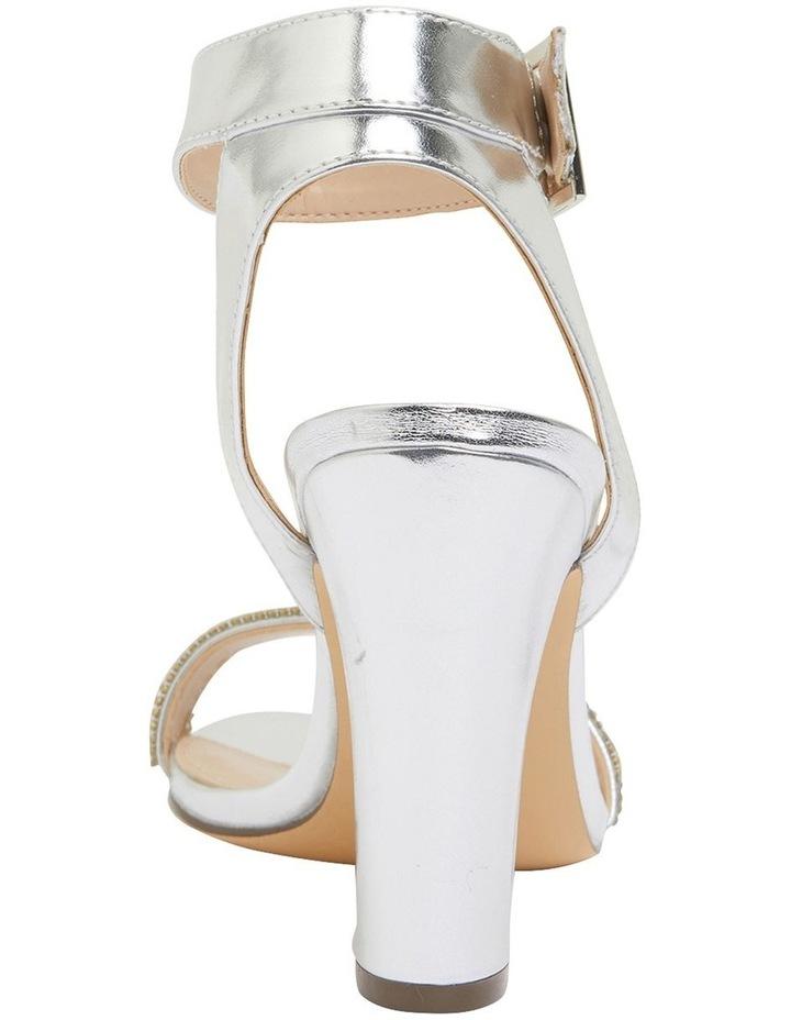 Sharon Silver Metallic Foil Sandals image 5