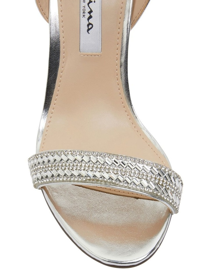Sharon Silver Metallic Foil Sandals image 6