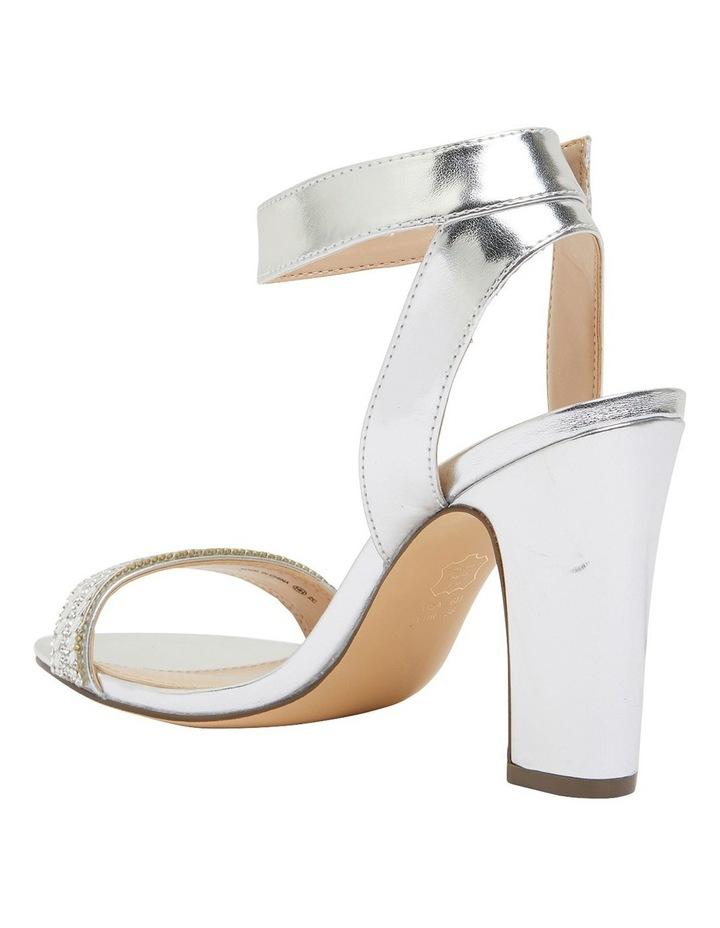 Sharon Silver Metallic Foil Sandals image 7