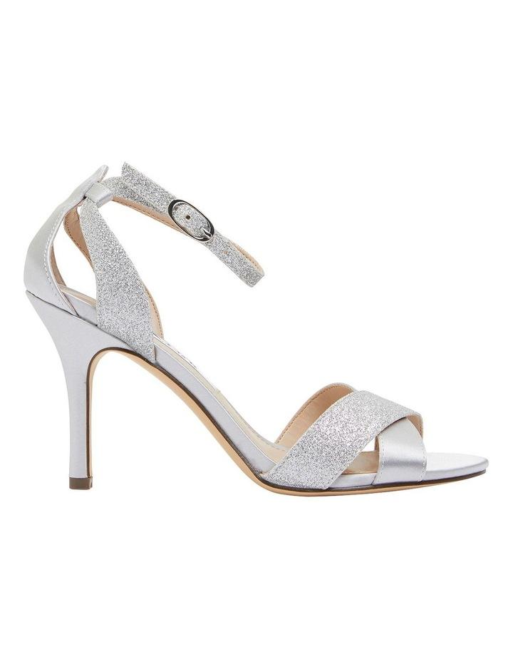 Venus Silver Satin/Glitter Sandals image 1