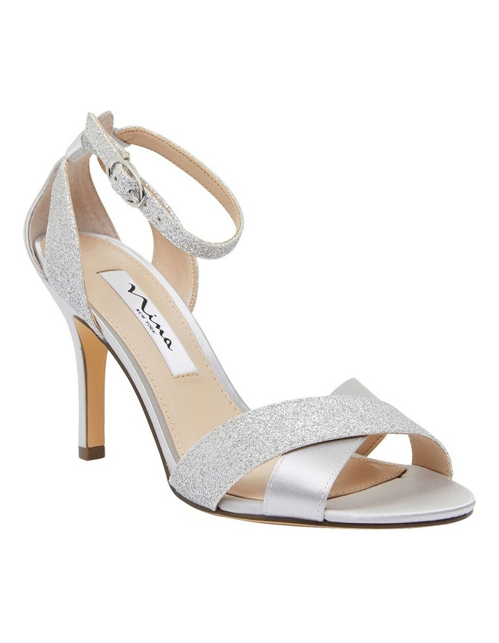 Venus Silver Satin/Glitter Sandals image 2