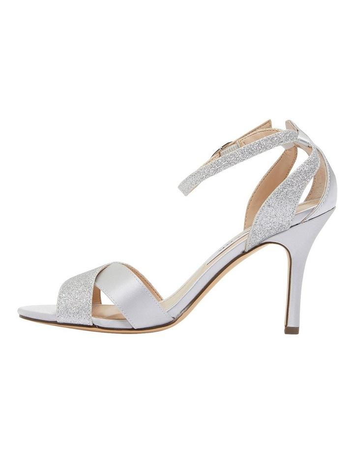 Venus Silver Satin/Glitter Sandals image 3