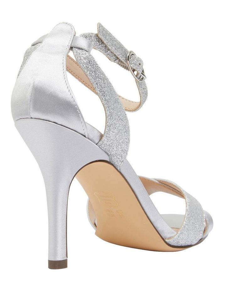 Venus Silver Satin/Glitter Sandals image 4