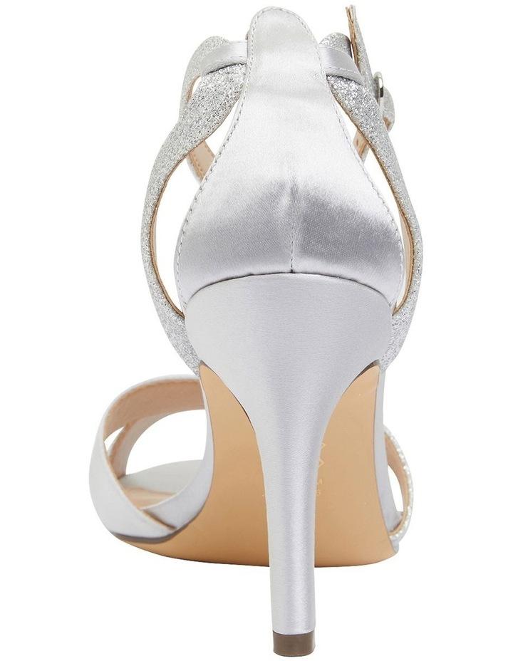 Venus Silver Satin/Glitter Sandals image 5