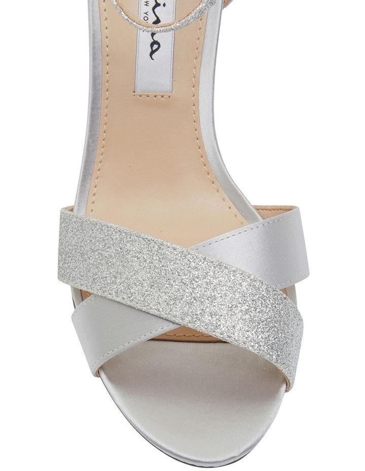 Venus Silver Satin/Glitter Sandals image 6
