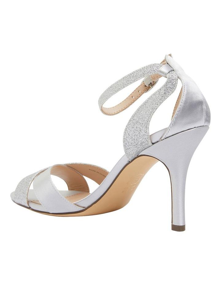 Venus Silver Satin/Glitter Sandals image 7