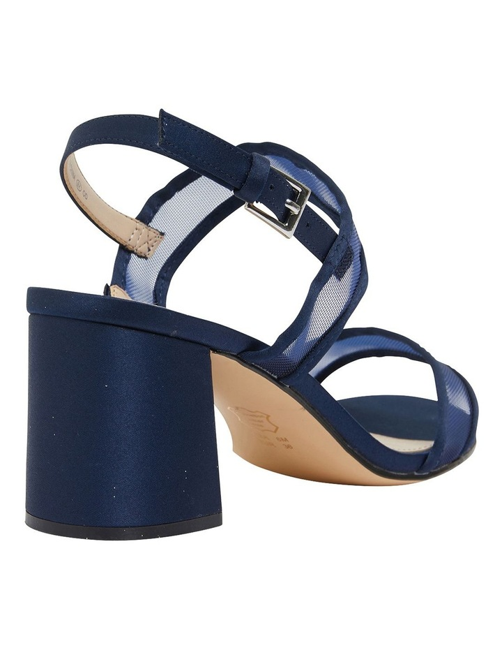 Nelley New Navy Satin Sandals image 3