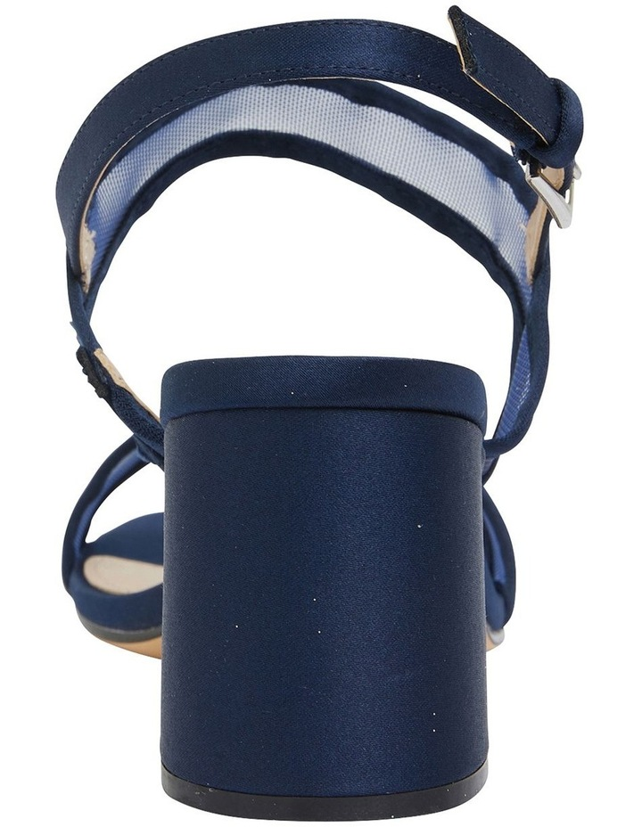 Nelley New Navy Satin Sandals image 4
