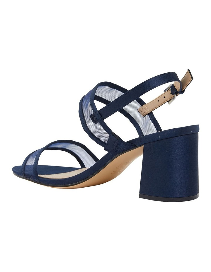 Nelley New Navy Satin Sandals image 5