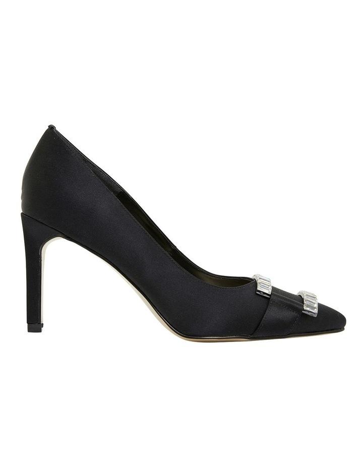 Madison Black Fabric Heeled Shoes image 1