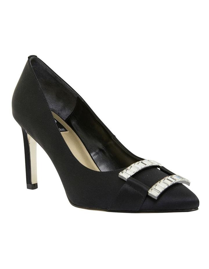 Madison Black Fabric Heeled Shoes image 2