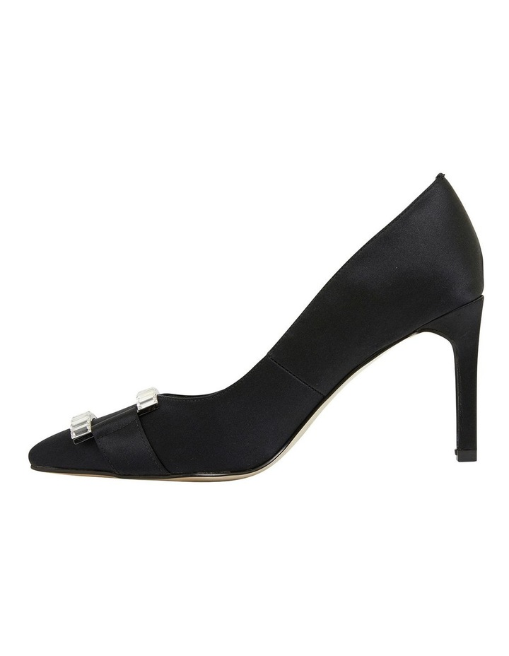 Madison Black Fabric Heeled Shoes image 3