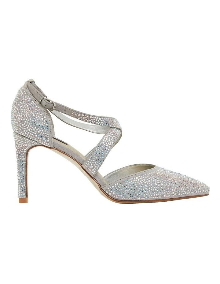 Madison Silver Fabric Heeled Shoes image 1