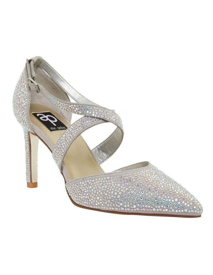 Madison Silver Fabric Heeled Shoes image 2