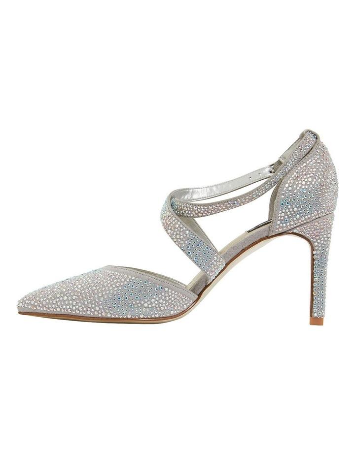 Madison Silver Fabric Heeled Shoes image 3