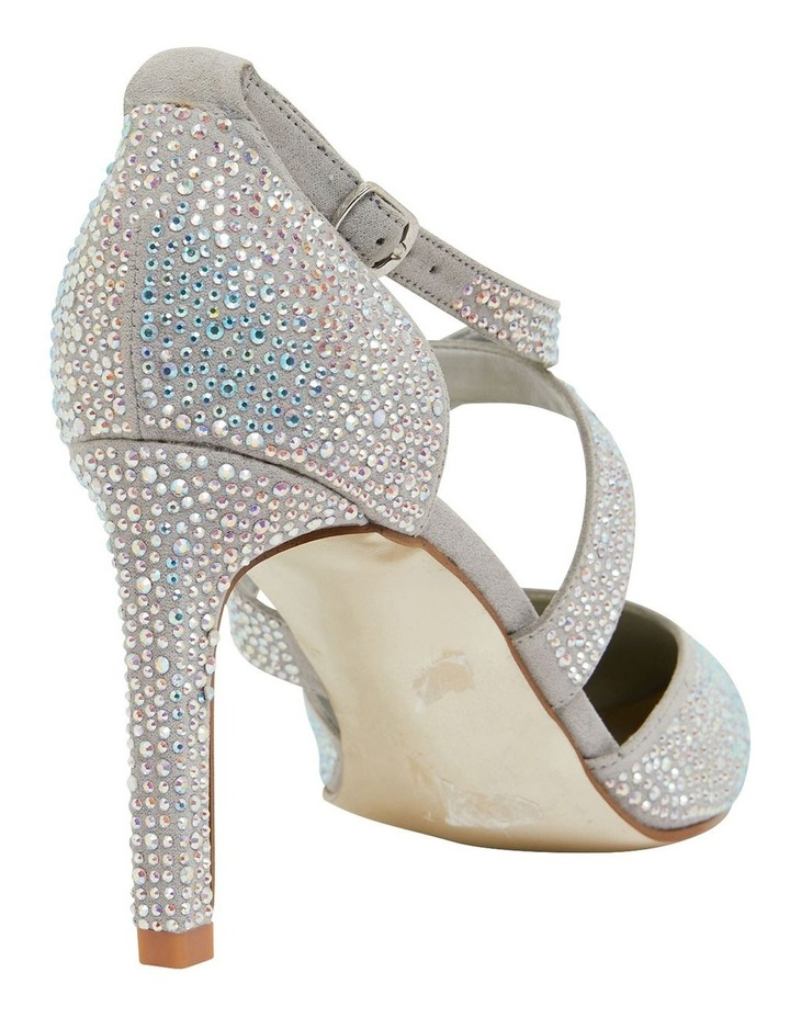 Madison Silver Fabric Heeled Shoes image 4