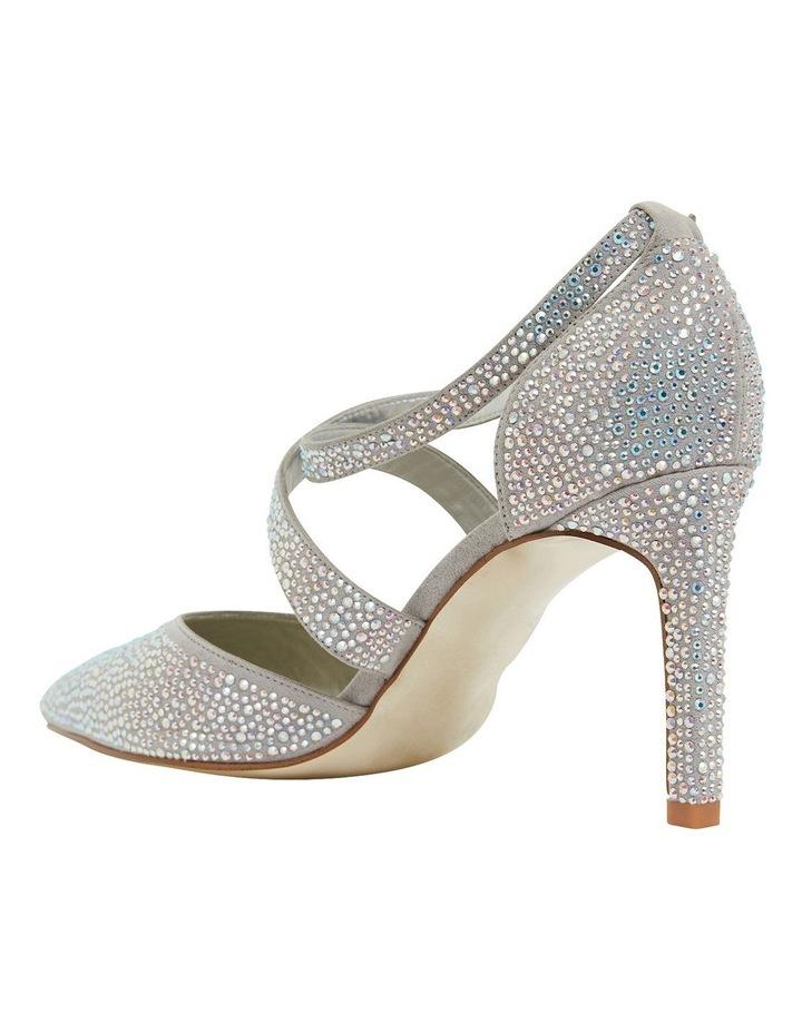Madison Silver Fabric Heeled Shoes image 6