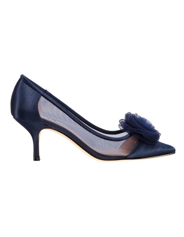 Bettey New Navy Satin Heeled Shoes image 1