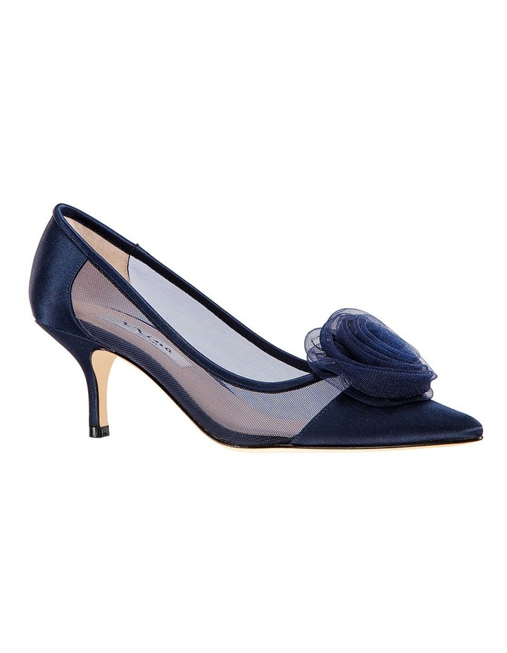 Bettey New Navy Satin Heeled Shoes image 2